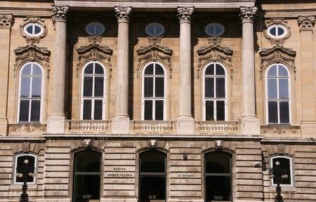 Magyar Nemzeti Galeria - Hungarian National Gallery. Famous landmark in Budapest. Stock Photo - 1149248