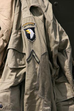 allied: US Army - 101st Airborne Division. World War 2 uniform. Stock Photo