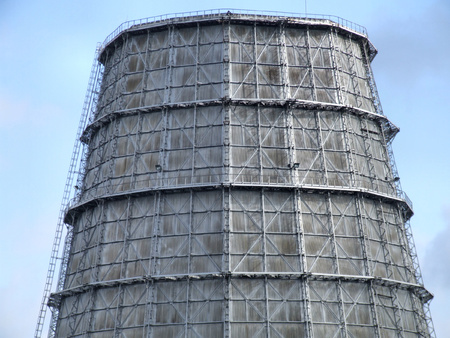 Cooling tower of a big electric power plant. Stock Photo - 1591276