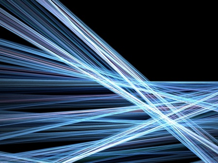 Abstract fractal background. Computer generated graphics. Motion blur light lines. Stock Photo - 1620966