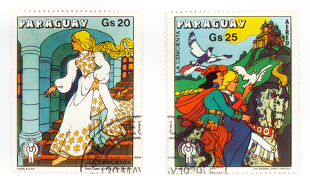 collectible: Collectible stamps from Paraguay. Set with Cinderella. Editorial