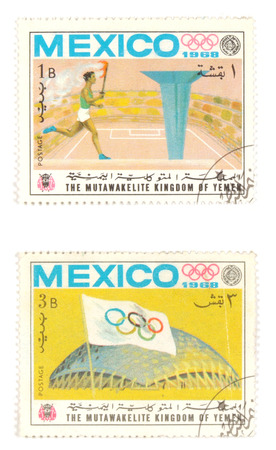 collectible: Collectible stamps from Yemen. Set with Mexico 1968 Olympic Games.