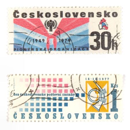 collectible: Collectible stamps from Czechoslovakia. Set with socialistic Youth Organization and Czechoslovakian Day of Postage Stamp.