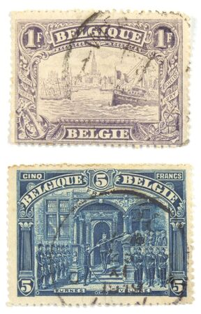 collectible: Collectible stamps from Belgium. Very old set.