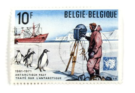collectible: Collectible stamps from Belgium. Set with Antarctic research.