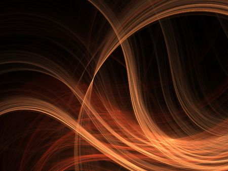 fx: Abstract fractal background. Computer generated graphics. Wavy fire blur 3D.