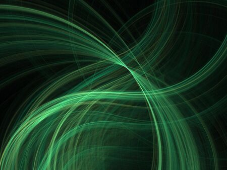 fx: Abstract fractal background. Computer generated graphics. Green lights.