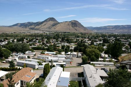 district of colombia: Panorama della citt� canadese - Kamloops (Westsyde distretto) in British Columbia