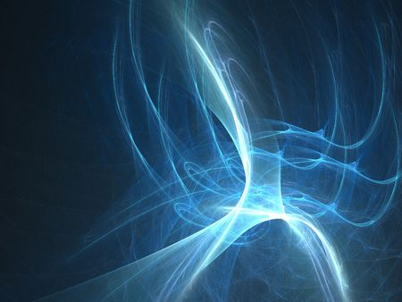 Abstract fractal background. Computer generated graphics. Blue magic brightness 3D. Stock Photo - 2167917