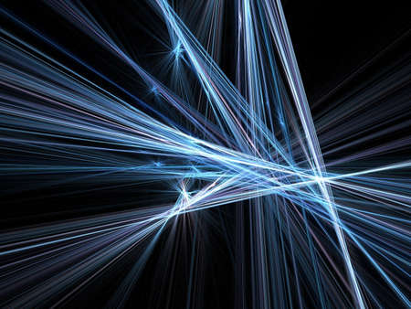 Abstract fractal background. Computer generated graphics. Motion blur lines 3D. Stock Photo - 2167937