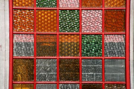 window panes: Colorful window panes - glass texture. Background of warm colours.