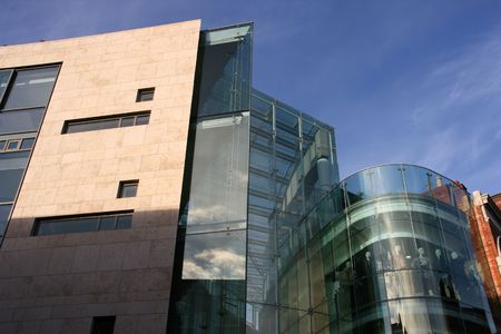 Modern office building and shopping mall in Dublin Stock Photo - 2167943
