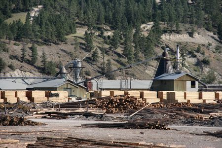 lumber mill: Sawmill or lumber mill - wood processing plant in Canada