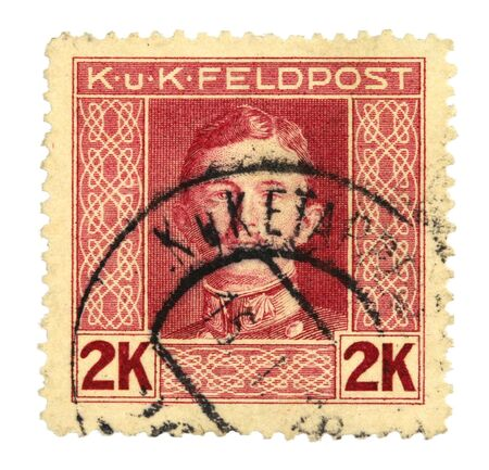 Collectible stamp from Austro-Hungarian Empire. KuK Feldpost. Stock Photo - 2429312
