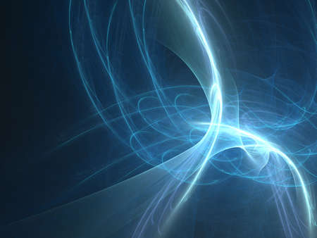 Abstract fractal background. Computer generated graphics. Electric light wave. Stock Photo - 2448289