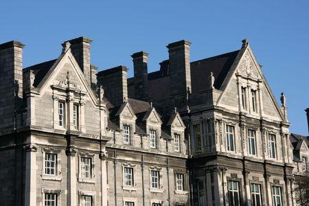 Trinity College campus. Dublin, Ireland. University buildings. photo