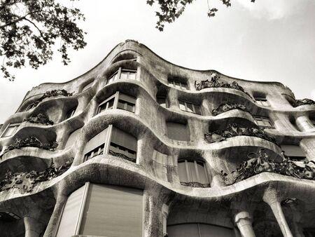 antonio: La Pedrera - famous Antonio Gaudis building in Barcelona, Spain Stock Photo