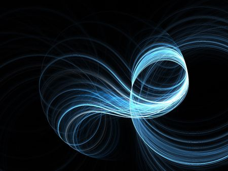 Abstract fractal background. Computer generated graphics. Spiral light abstract 3D. Stock Photo - 2625555