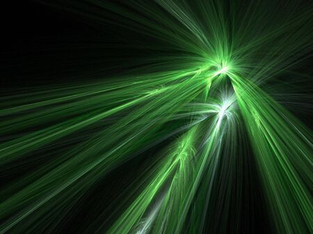 Abstract fractal background. Computer generated graphics. Green explosion - wonderful shape. photo