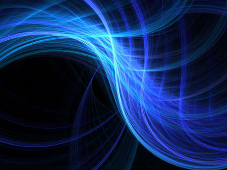 Abstract fractal background. Computer generated graphics. Blurred waves 3D. Stock Photo - 2666446