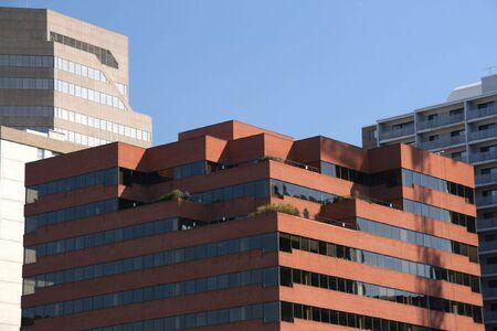 highriser: Skyscrapers of a big city in Canada - Calgary, Alberta Stock Photo
