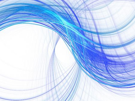 Abstract fractal background. Computer generated graphics. Light blur waves. Stock Photo - 2735508