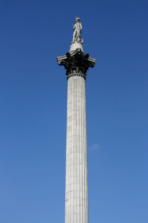 Famous Nelson's column on Trafalgar Square in London, UK Stock Photo - 2905598