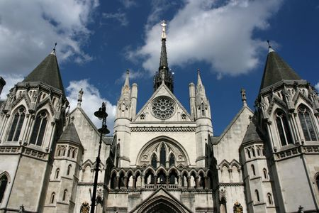 Famous building in London: Royal Court of Justice photo