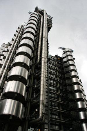 lloyd's: Skyscraper in London - ultramodern tower called Lloyds Building.