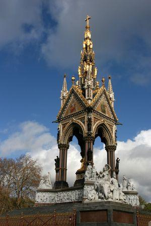 Ornate Albert Memorial in Kensington Gardens, London, United Kingdom. photo