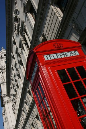 phonebooth: Typical London phone booth - symbol of Great Britain.