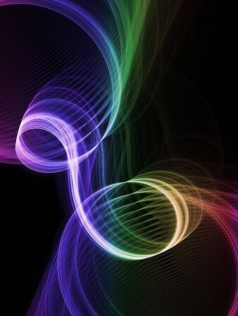 fx: Abstract fractal background. Computer generated graphics. Rainbow waves.