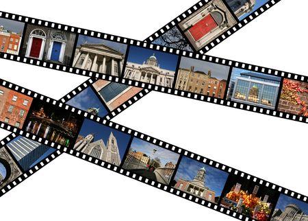 diaporama: Bandes de film avec des photos de voyage. Dublin, en Irlande, en Europe. Toutes les photos prises par moi.