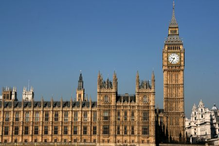 Blick in London: Big Ben und den Houses of Parliament
