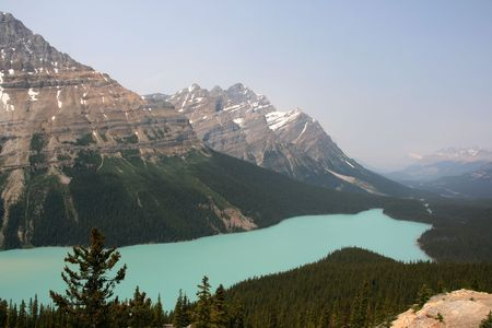 Peyto Lake in Banff National Park - famous travel destination in Canadian Rocky Mountains. Stock Photo - 3189722