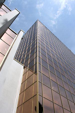 highriser: Skyscraper in Kiev, Ukraine - ultramodern steel and glass building
