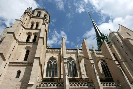 bourgogne: Beautiful Cathedral of Saint Benigne in Dijon, Burgundy, France Stock Photo