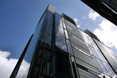 highriser: Skyscraper in London - ultramodern steel and glass building