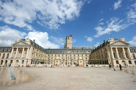 Liberation Square and the Palace of Dukes of Burgundy (Palais des ducs de Bourgogne) in Dijon, France. Beautiful town. Stock Photo - 3549522