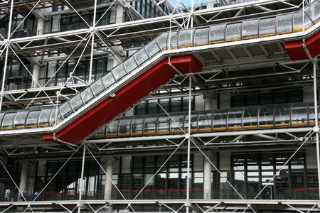 georges: Famous Centre Georges Pompidou in the Beaubourg area of the 4th arrondissement of Paris. It houses public library and Museum of Modern Art.