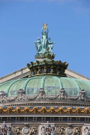 ra: Op�ra National de Paris - Garnier Palace. Famous neo-baroque opera building in Paris, France