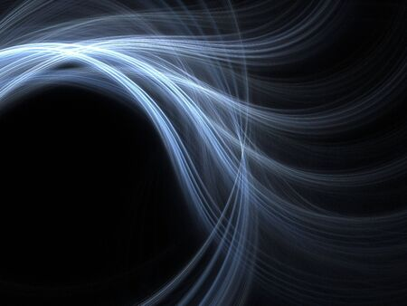 Abstract fractal background. Computer generated graphics. Cold blue waves. Stock Photo - 3594523