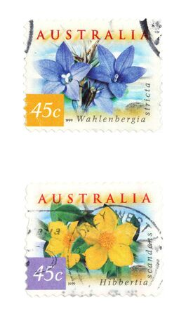collectible: Collectible stamps from Australia. Stock Photo