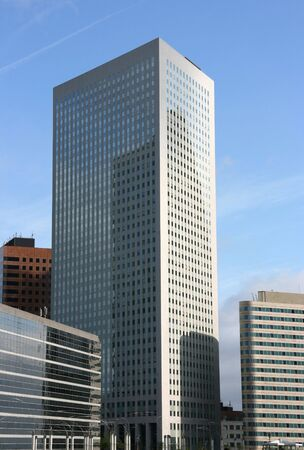Skyscraper in famous financial and business district of Paris - La Defense. Stock Photo - 3615976