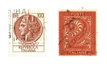 collectible: Collectible stamps from Italy. Old postage collection.