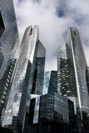 Skyscraper in famous financial and business district of Paris - La Defense. Stock Photo - 3639483