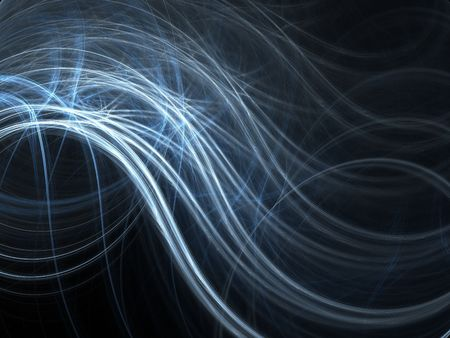 Abstract fractal background. Computer generated graphics. Blue waves. Stock Photo - 3639486