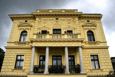 linz: Old, beautiful villa in Linz, Upper Austria. European architecture.
