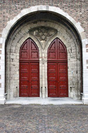 Beautiful wooden door in Dordrecht, Netherlands. Old architecture. Stock Photo - 3731370