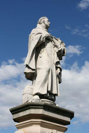 Saint Philip Statue auf Karlsbrücke in Prag. Saint Philip Benizi de Damiani ist auch bekannt als St. Philip Benitius oder Benicius. Standard-Bild - 3746765
